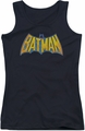 DC Comics juniors tank top Batman Neon Distress Logo black
