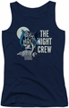 DC Comics juniors tank top Batman Night Crew navy