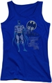 DC Comics juniors tank top Batman Night Life royal
