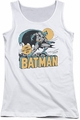 DC Comics juniors tank top Batman Night Off white