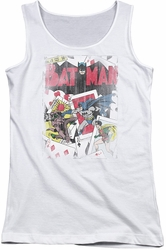 DC Comics juniors tank top Batman Number 11 Distressed white