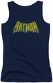 DC Comics juniors tank top Classic Batman Logo navy