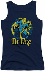 DC Comics juniors tank top Dr Fate Ankh navy