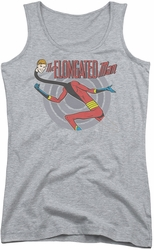 DC Comics juniors tank top Elongated Man athletic heather