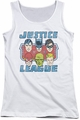 DC Comics juniors tank top Faces Of Justice white