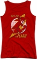 DC Comics juniors tank top Flash Bolt red