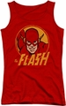 DC Comics juniors tank top Flash Circle red