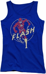 DC Comics juniors tank top Flash Comics royal