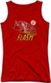 DC Comics juniors tank top Flash Crimson Comet red