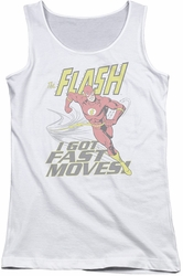 DC Comics juniors tank top Flash Fast Moves white