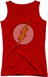 DC Comics juniors tank top Flash Little Logos red