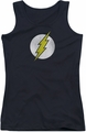 DC Comics juniors tank top Flash Logo Distressed black