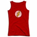 DC Comics juniors tank top Flash Logo Distressed red