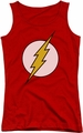 DC Comics juniors tank top Flash Logo red