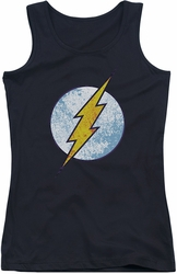 DC Comics juniors tank top Flash Neon Distress Logo black