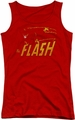 DC Comics juniors tank top Flash Speed Distressed red