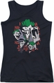 DC Comics juniors tank top Four Of A Kind black