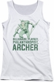 DC Comics juniors tank top Green Arrow Archer white