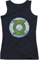 DC Comics juniors tank top Green Lantern Neon Distress Logo black