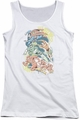 DC Comics juniors tank top Halftone League white