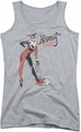 DC Comics juniors tank top Harley Quinn Hammer athletic heather