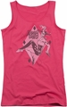 DC Comics juniors tank top Harley Quinn hot pink