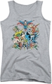 DC Comics juniors tank top Justice League Assemble athletic heather