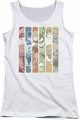 DC Comics juniors tank top Justice League Columns white