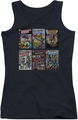 DC Comics juniors tank top Justice League Covers black