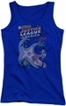 DC Comics juniors tank top Justice League No 28 royal