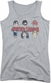 DC Comics juniors tank top Justice Lineup athletic heather