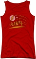 DC Comics juniors tank top Like Lightning red