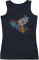 DC Comics juniors tank top Lite Brite Superman black