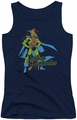 DC Comics juniors tank top Martian Manhunter navy