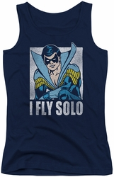 DC Comics juniors tank top Nightwing Fly Solo navy