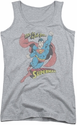 DC Comics juniors tank top On The Job athletic heather
