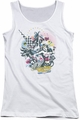 DC Comics juniors tank top Power Trio white