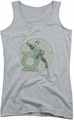 DC Comics juniors tank top Retro Lantern Iron On athletic heather