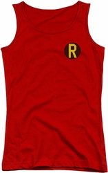 DC Comics juniors tank top Robin Logo red