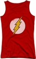 DC Comics juniors tank top Rough Flash Logo red