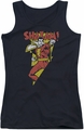 DC Comics juniors tank top Shazam In Bolt black