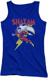 DC Comics juniors tank top Shazam Let's Fly royal