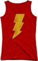 DC Comics juniors tank top Shazam Logo Distressed red