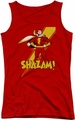 Shazam! juniors tank top Shazam! red