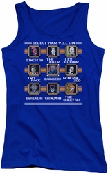 DC Comics juniors tank top Stage Select royal