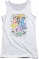 DC Comics juniors tank top Super Women  white
