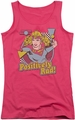 DC Comics juniors tank top Supergirl Positively Rad hot pink