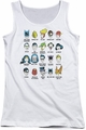 DC Comics juniors tank top Superhero Issues white