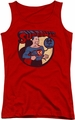 DC Comics juniors tank top Superman 64 red