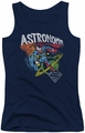 DC Comics juniors tank top Superman Astronomy navy